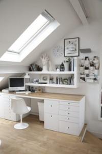 tetőtér dolgozószoba