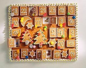 adventi-naptár mézeskalács
