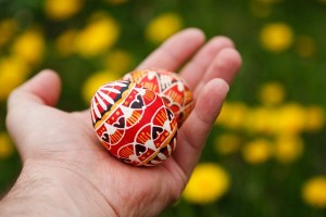 tojás kézben