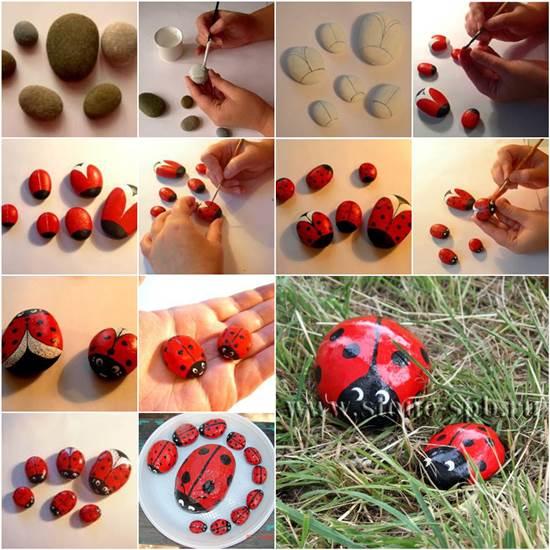 Csodás katicabogarak kövekből: mutatjuk, hogy csináld!