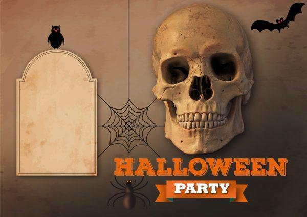 halloweenparti megívó
