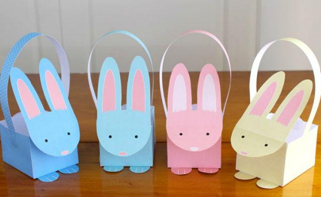 Egyszerű édes húsvéti kosárkák nyomtatható sablonnal: az utolsó pillanatban is elkészítheted