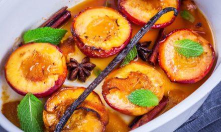 Illatozó, mézes-fahéjas sült őszibarack: egyszerű, mégis mennyei desszert