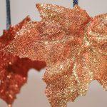 Pofonegyszerű csillámos levelek: meseszép őszi dekoráció