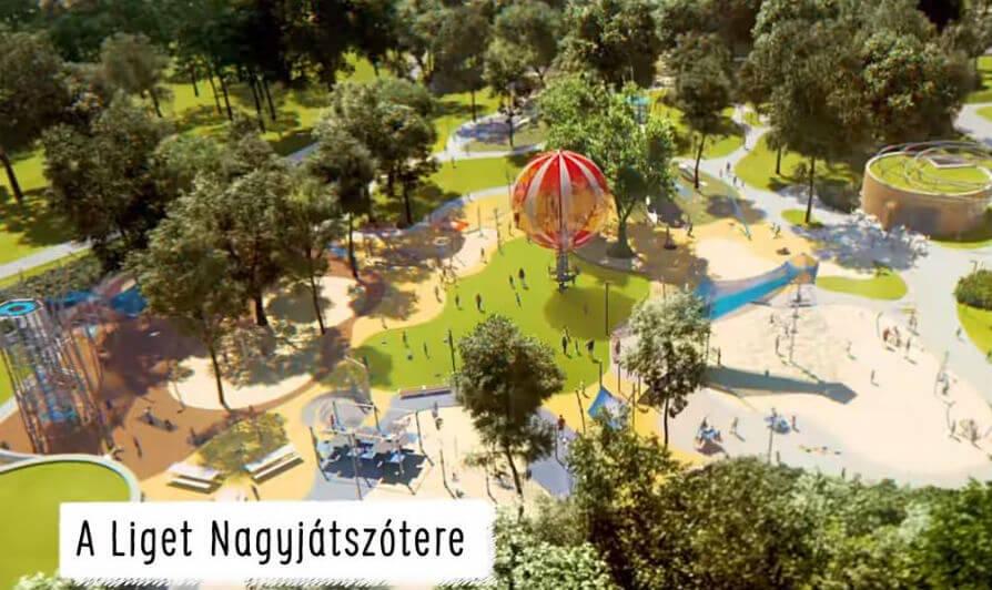 Az ország legnagyobb és legmodernebb játszótere épül a Városligetben: itt a látványterv