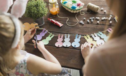 Cuki húsvéti nyuszis girland: letölthető sablonnal