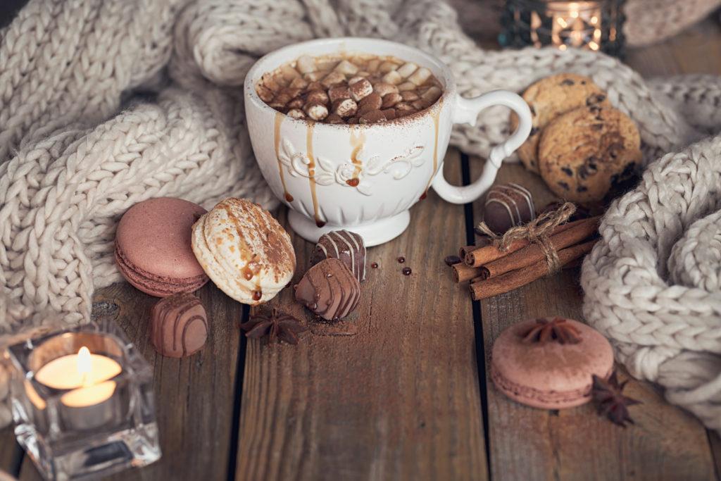 Macaron forró csokival