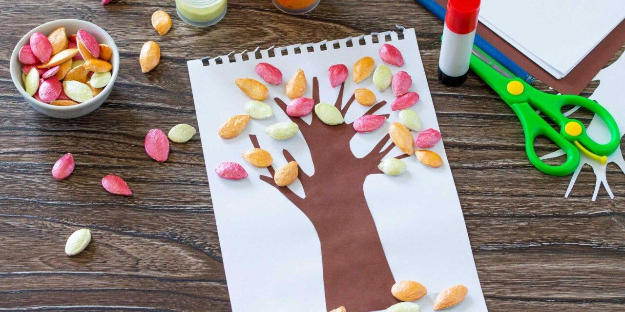 Tökmagból mutatós fát? – Filléres őszi kreatívkodás