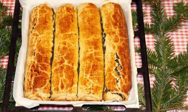 Régimódi diós és mákos bejgli sok töltelékkel: hagyományos karácsonyi süti családi recept szerint
