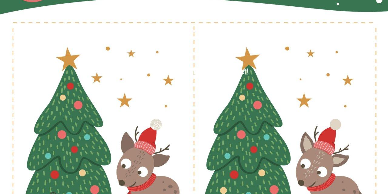 Karácsonyi foglalkoztatók: puzzle, színező, vonalvezető, különbségkereső