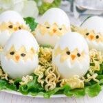 Csibe formájú töltött tojás: kreatív ötlet a húsvéti asztalra