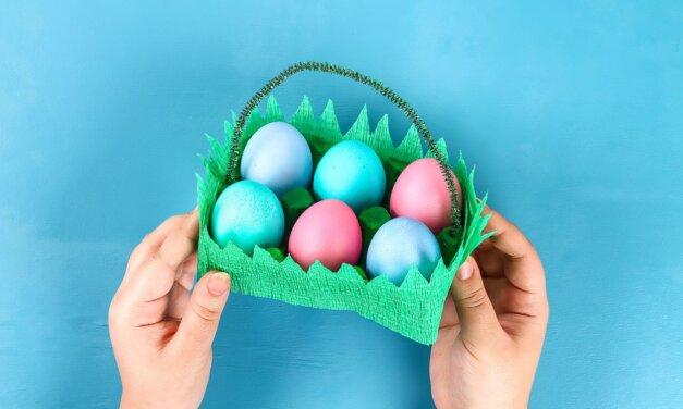 Húsvéti kosár tojástartóból: a gyerekek is el tudják készíteni