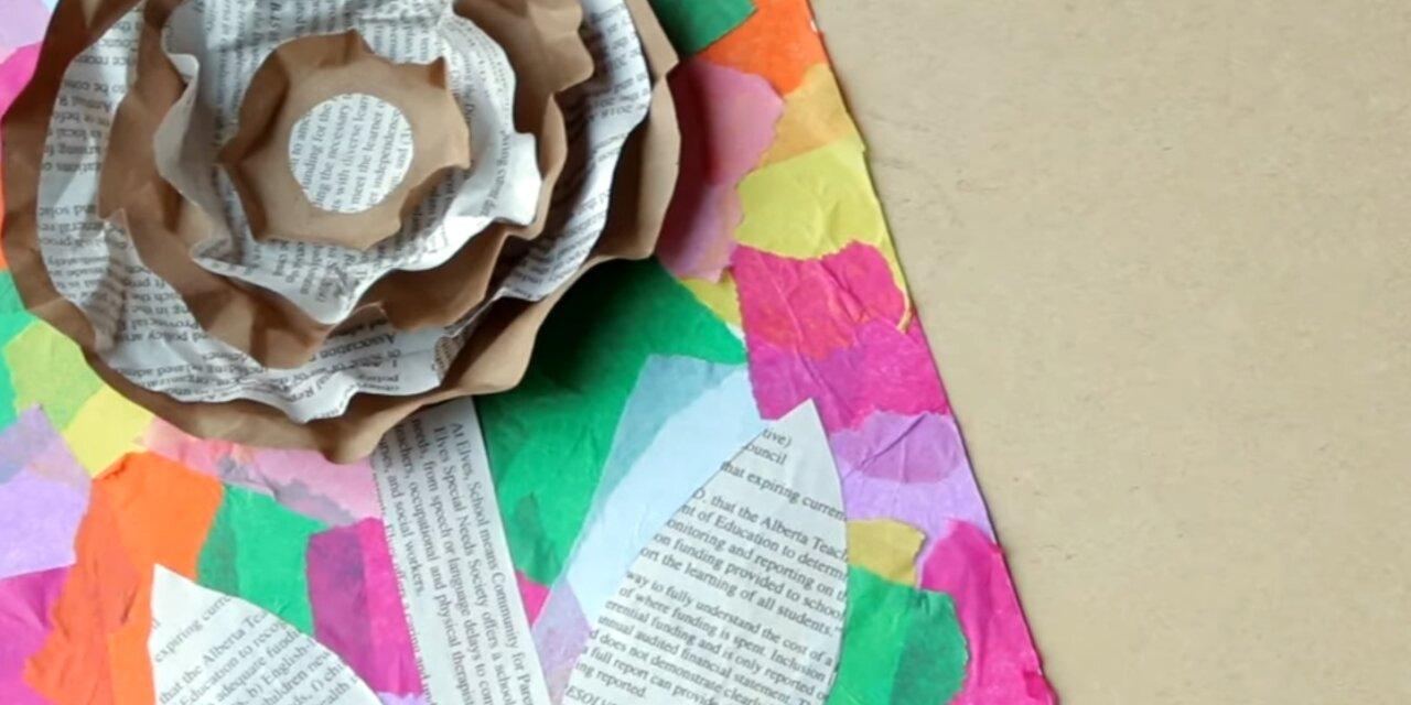 Készítsetek virágot a Föld napjára újrahasznosított alapanyagokból!